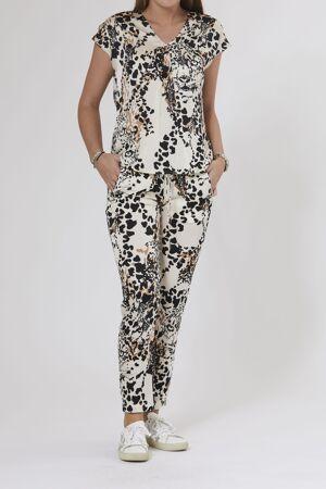 PBO GROUP – Bluse med leopard print