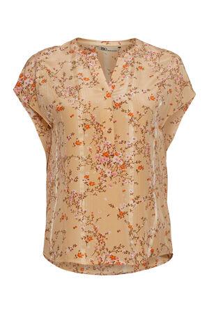 PBO GROUP – Bluse i silke med print
