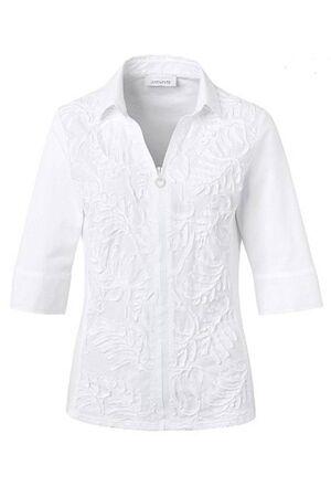 SE JUST WHITE – Skjorte med lynlås